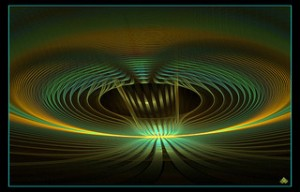 fractal art wormhole